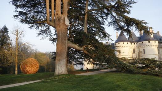 l'installation pérenne de Vincent Mauger, Géométrie discursive, Photo Eric Sander/Chaumont-sur-Loire
