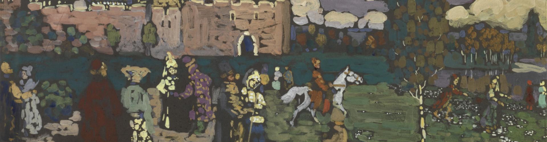 Folklore: Vassily Kandinsky, Old Russian (Vieille Russie), [early 1904] Paris, Centre Pompidou, Musée national d'art moderne © Centre Pompidou, MNAM-CCI/Georges Meguerditchian/Dist. RMN-GP
