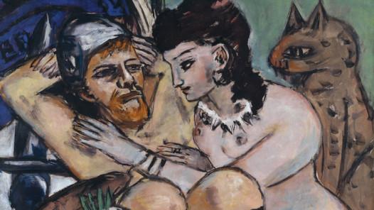 Max Beckmann (1884–1950), Odysseus und Kalypso, 1943, Öl auf Leinwand, 150 x 115,5 cm, Hamburger Kunsthalle © VG Bild-Kunst, Bonn 2020 © Hamburger Kunsthalle / bpk, Foto: Elke Walford