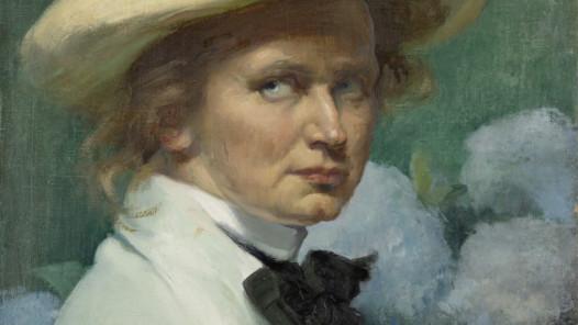 Ottilie W. Roederstein, Selbstbildnis mit Hut, 1904, Öl auf Leinwand, 55,3 x 46,1 cm, Städel Museum, Frankfurt am Main, Foto © Städel Museum, Frankfurt am Main