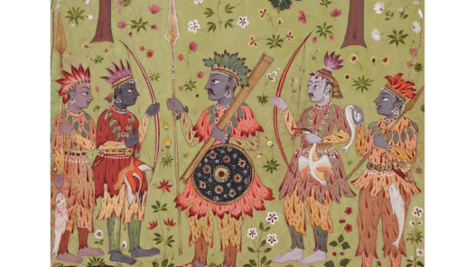 Dekkan: Raga Gonda, Aus einer Ragamala-Serie, Aurangabad, nach 1680, 36,5 x 24 cm, RVI 1693, Geschenk Eberhard und Barbara Fischer, Museum Rietberg