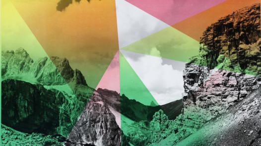 Shirana Shahbazi/Steindruckerei Wolfensberger, Composition with Mountain, 2014, 6-Farben-Lithografie auf Gelatinesilber-Baryt-Abzug, ca. 50 x 40 cm, Kunsthaus Zürich, © Shirana Shahbazi, (Ausschnitt)