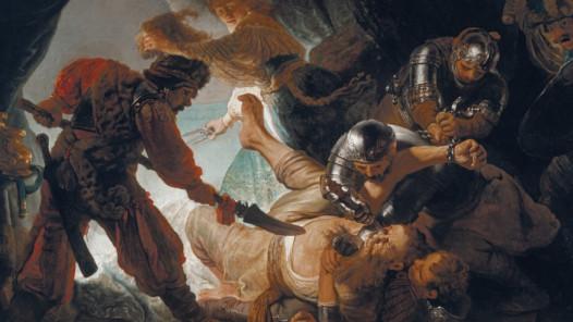 Nennt mich Rembrandt! Durchbruch in Amsterdam: Rembrandt Harmensz. van Rijn (1606–1669), Die Blendung Simsons, 1636, 206 × 276 cm, Öl auf Leinwand, Städel Museum, Frankfurt am Main © Städel Museum, Foto: U. Edelmann