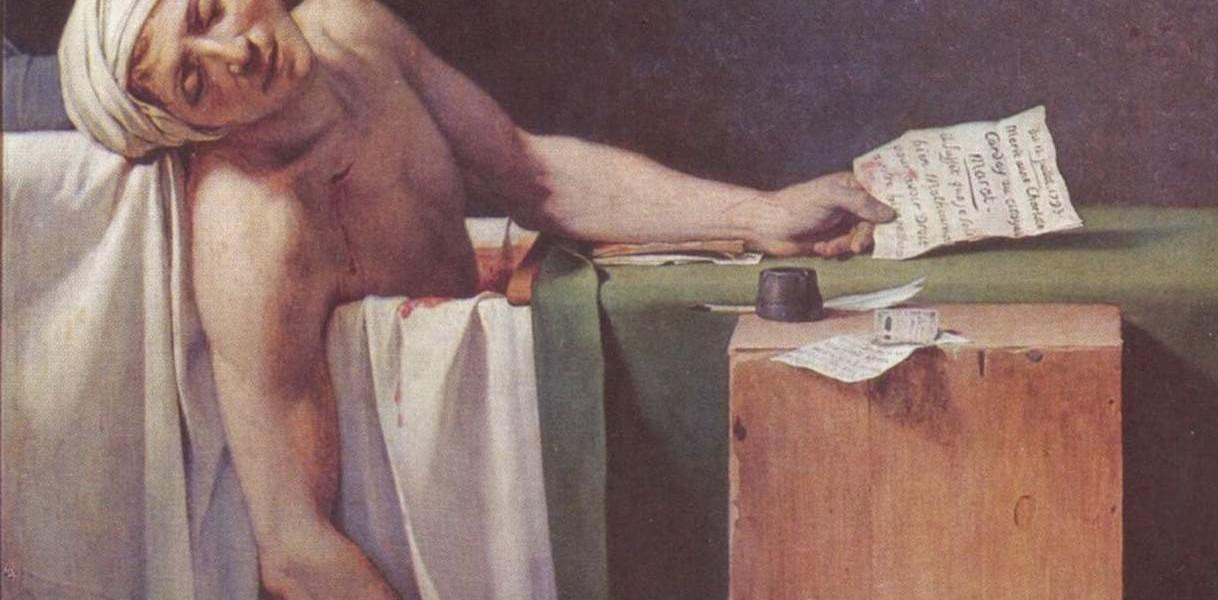 Jacques-Louis David, Der Tod des Marat, 1793, Öl auf Leinwand, Königliche Museen der Schönen Künste von Belgien © Königliche Museen der Schönen Künste von Belgien