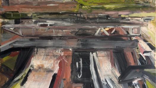 Michael Kruscha (DE), o. T., 2018, Acryl auf Leinwand, 80 x 100 cm