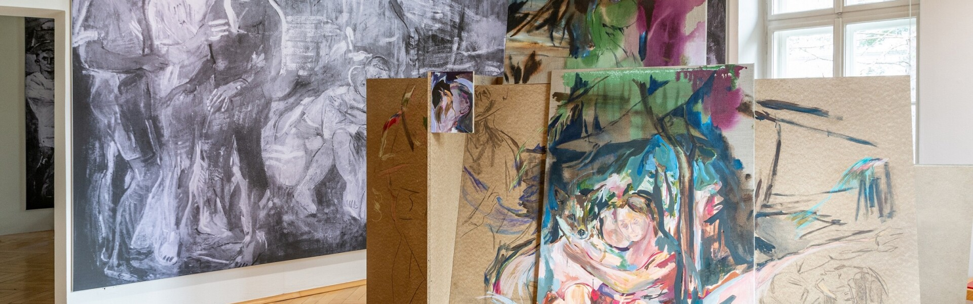 Museum des Nötscher Kreises, Raumansicht Ausstellung 2020, Foto: grafik.at