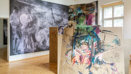 Museum of the Nötscher Kreis, room view of the exhibition 2020, photo: grafik.at