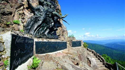Monument of the Diables Rouges at the Hartmannswillerkopf © Bernard NAEGELEN - ADT