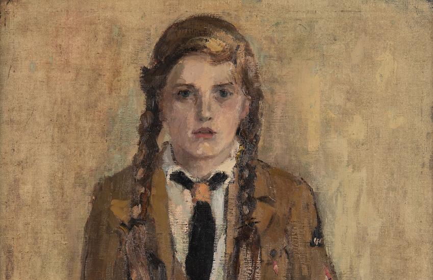 Fritz Ketz, BDM-Mädel, 1940, Öl auf Leinwand, 95 x 77 cm, Kunstmuseum Stuttgart, Foto: Frank Kleinbach, Stuttgart
