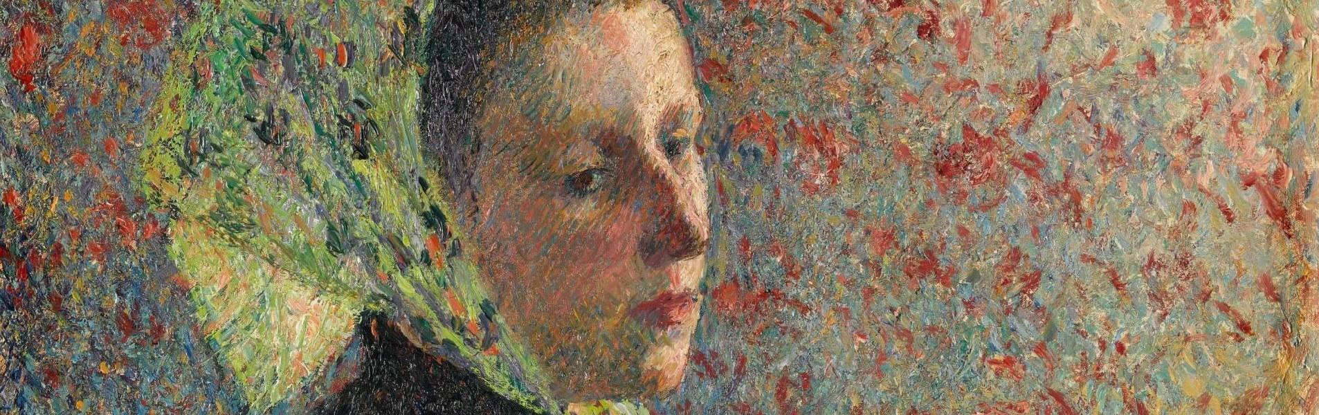 Camille Pisarro, Frau mit grünem Schal [Femme au fichu verte], Detail, 1893, Öl auf Leinwand, 65,5 x 54,5 cm (Paris, musée d'Orsay, Photo © RMN-Grand Palais (musée d'Orsay) - © Franck Raux)