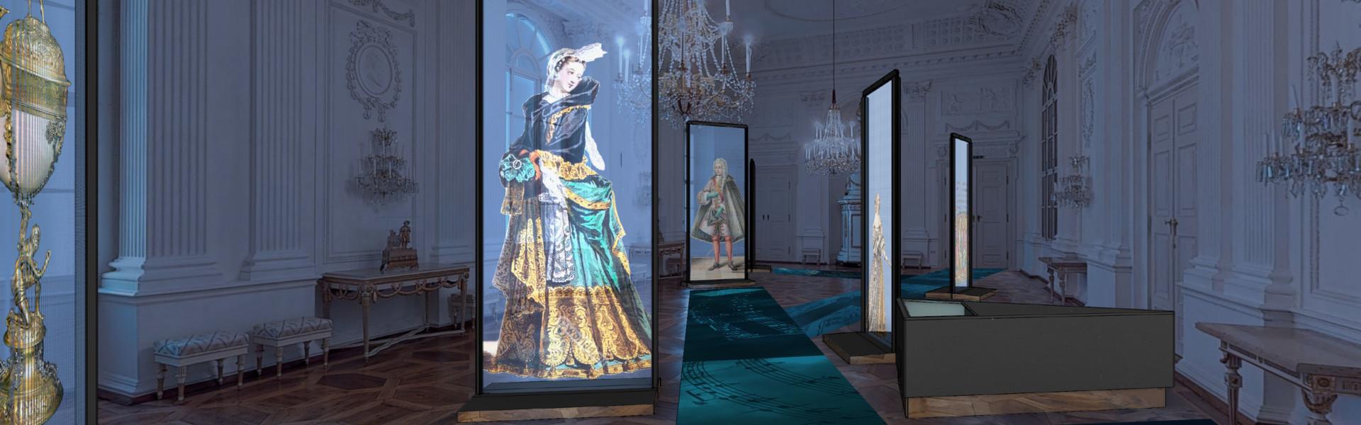 Blick in die Ausstellung, Weisser Saal