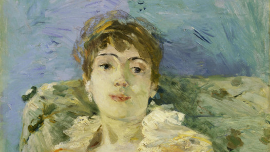 Berthe Morisot, Junge Frau auf dem Sofa (Jeune Femme Au Divan), Detail, 1885 Öl auf Leinwand, 61 x 50.2 cm, Tate, London; Bequeathed by the Hon. Mrs A.E. Pleydell-Bouverie, through the Friends of the Tate Gallery 1968, Photo © Tate
